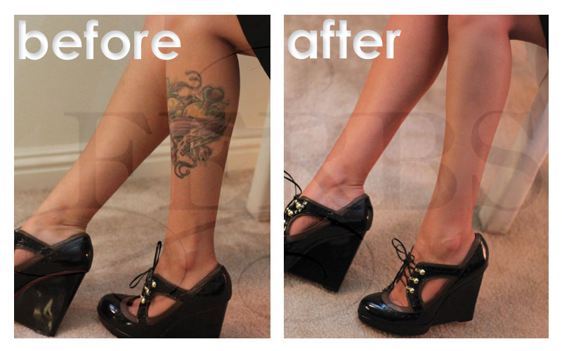 Leg Tattoo Cover up Photo