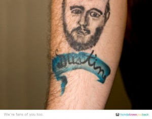 Honda VP of marketing gets airbrushed tattoo of fan
