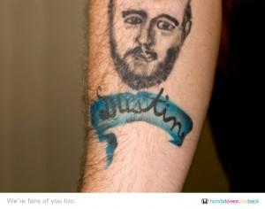 Honda VP of marketing gets airbrushed tattoo of fan