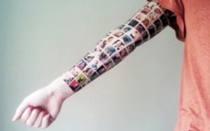 youtube facebook arm tattoo