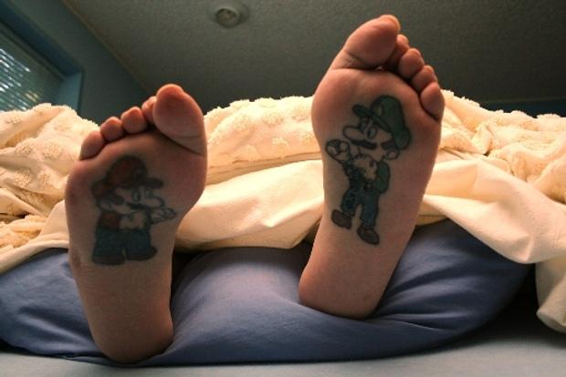 mario and luigi feet tattoos Mario Luigi Feet Tattoos