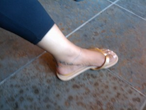 Brianca ankle tattoo