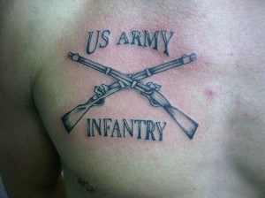 Cover up Tattoos - Military - US Army Infantry Tattoo