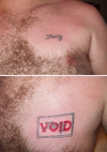 cover up tattoos - do not like tattoo - void tracy